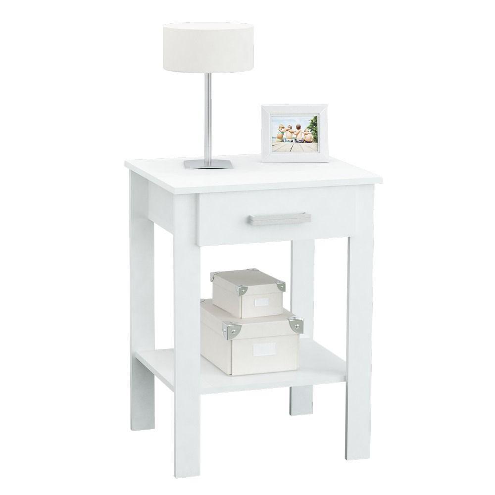 Mesa De Luz Centro Estant De Melamina Con Caj N Blanco 449 00  # Muebles Centro Estant