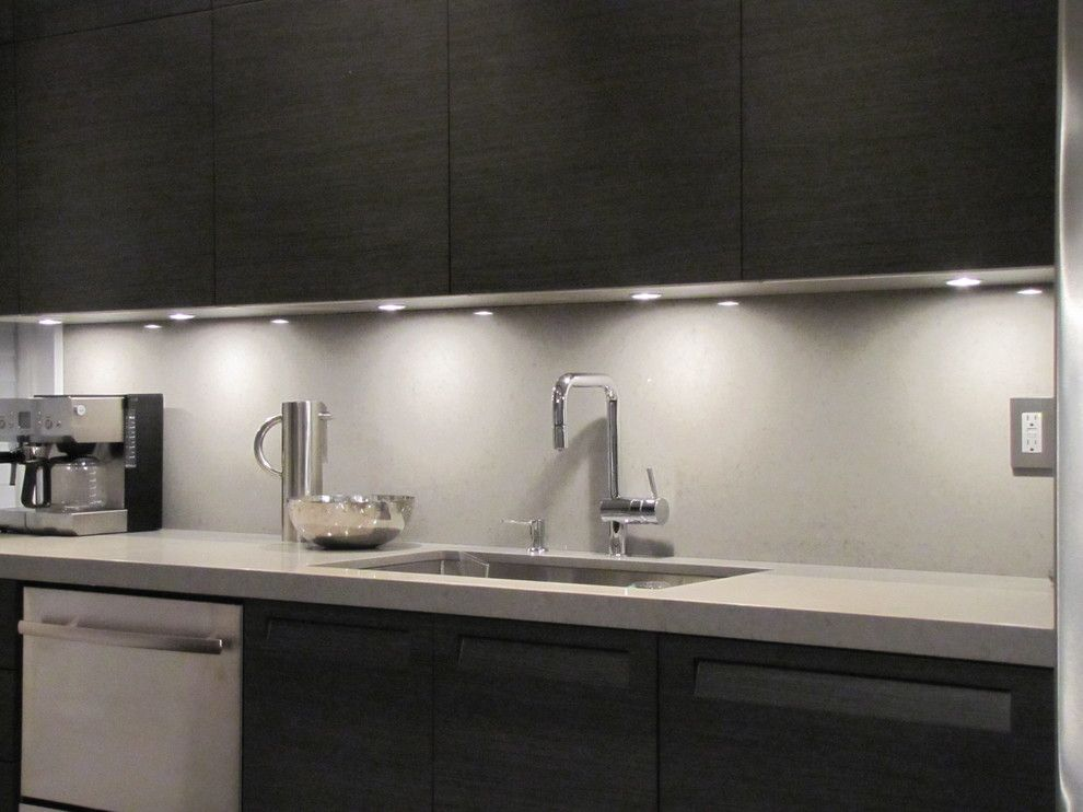 Merveilleux Under Cabinet Lighting Kitchen Modern With Caesarstone Contemporary Lights  Awesome Led Strips