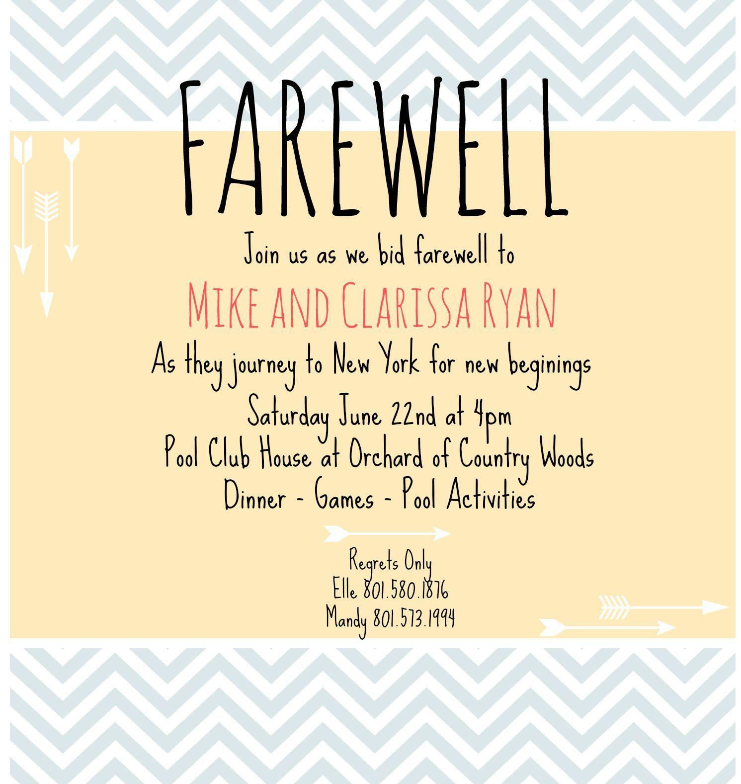 Farewell Invite Farewell Party Invitations Going Away For Farewell Invitati Farewell Invitation Card Going Away Party Invitations Farewell Party Invitations