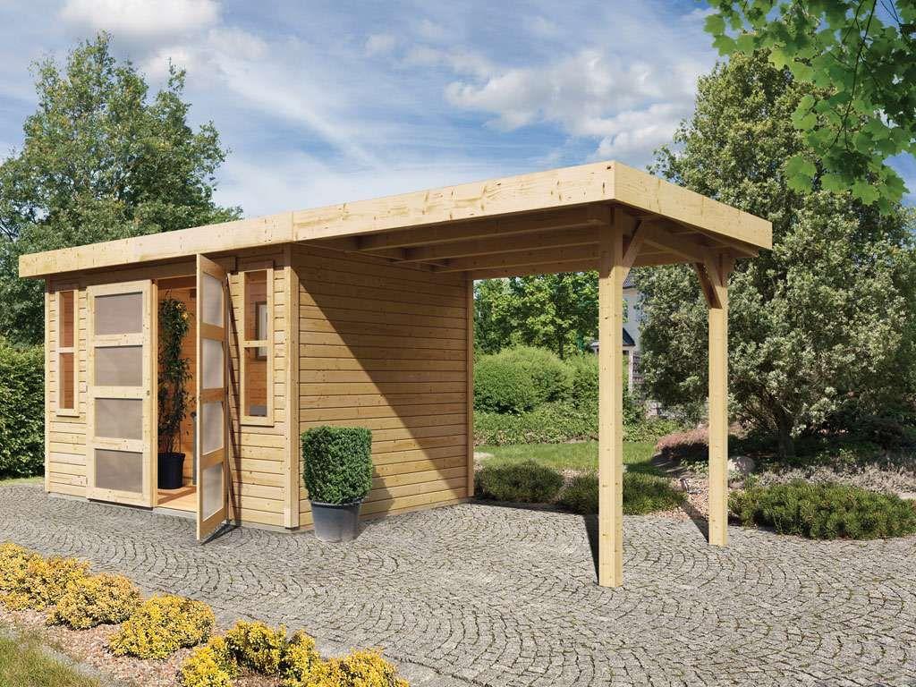 Gartenhaus Sparset Munster 2 19 Mm Naturbelassen Inkl Anbaudach In 2021 Gartenhaus Karibu Gartenhaus Flachdach Gartenhaus