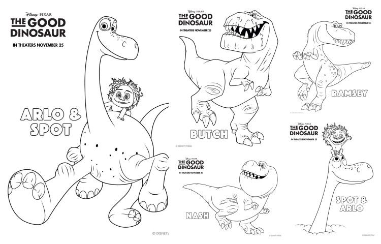 The Good Dinosaur Coloring Pages and Activity Sheets #GoodDino - copy animal dinosaurs coloring pages