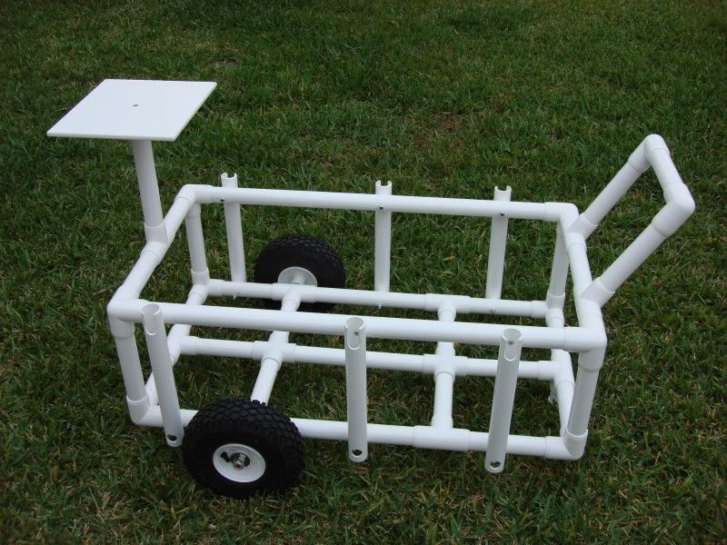 Pvc Fishing Caddy Build An Easy To Use Cart For Including
