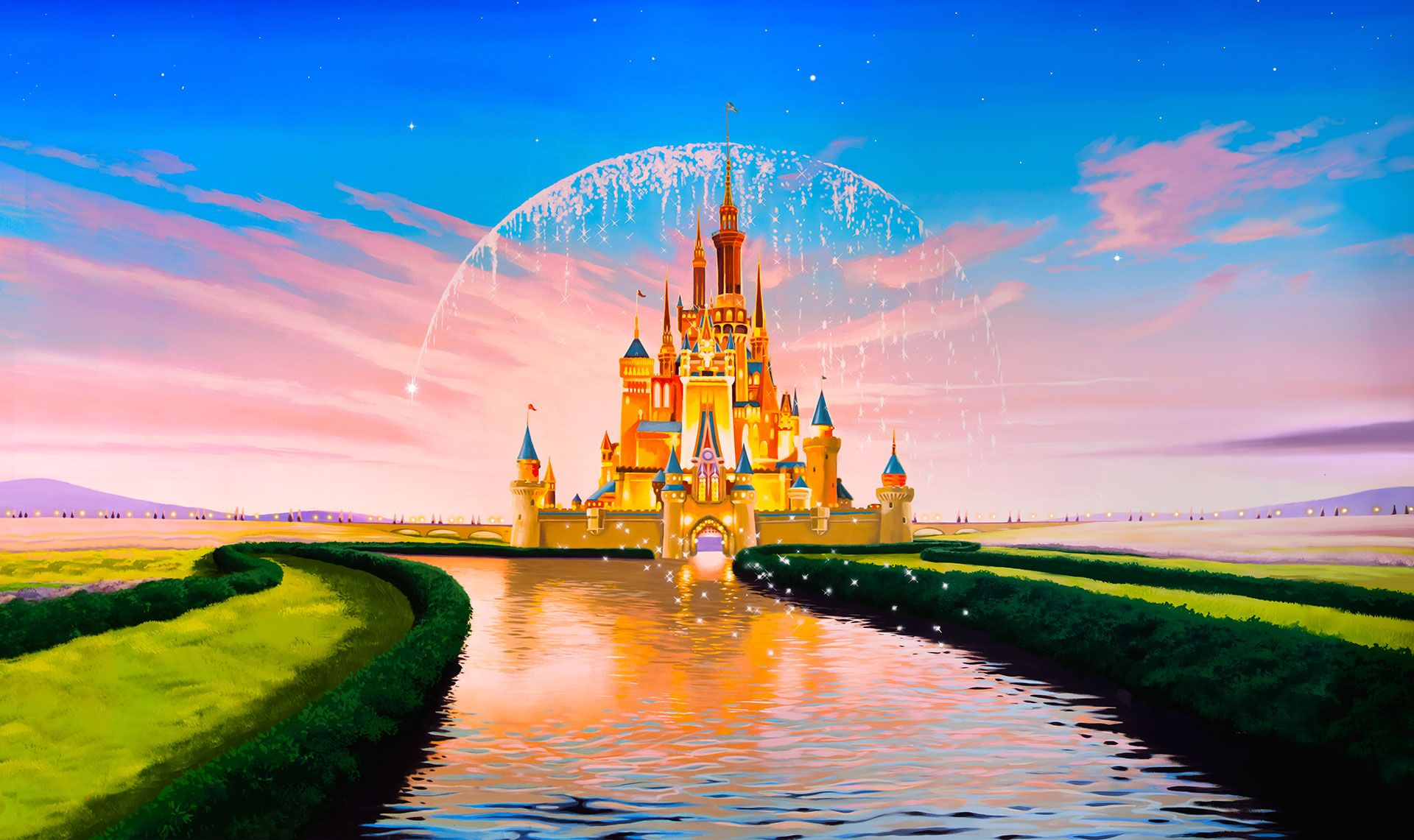 Anime Wallpaper Disney Castle Desktop Wallpapers Hd