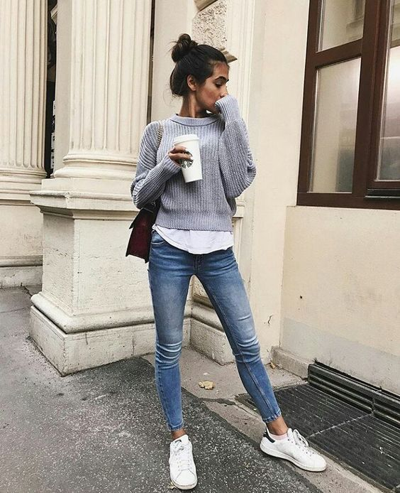 nice outfit casual mujer frio de
