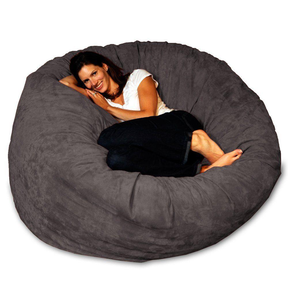 Delightful Chill Bag   Bean Bags Bean Bag Chair, 5 Feet Charcoal