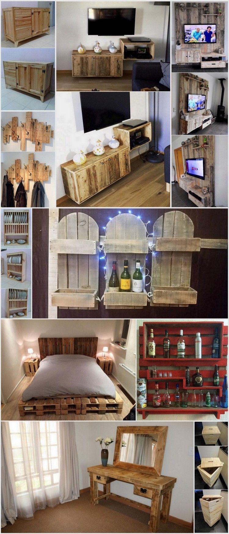 Fantastic DIY Wooden Pallet Projects | Selber bauen paletten, Bar ...