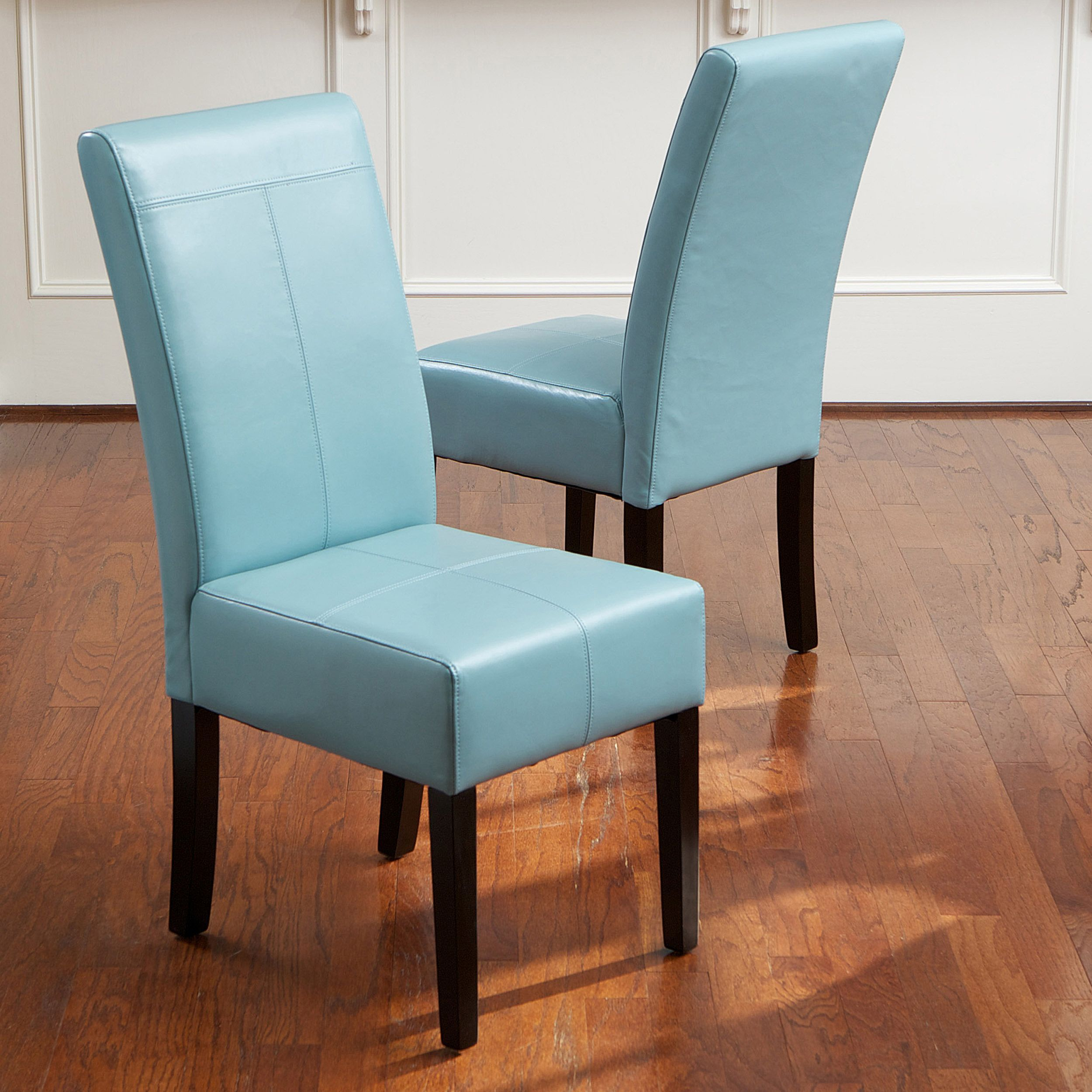 Add a bold pop of color to your dining room with this set of two ...