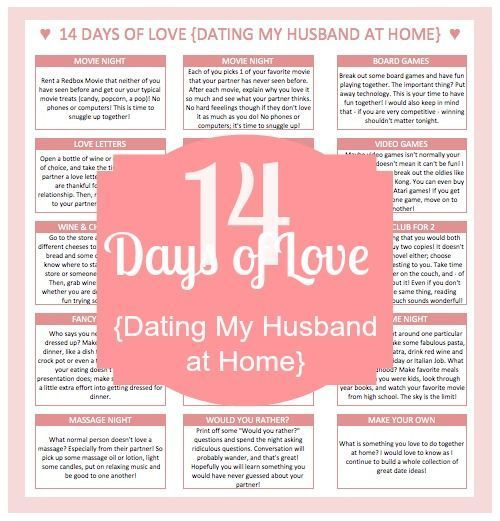 14 Days of Love - Dating My Husband at Home Frugal - love letter to my husband