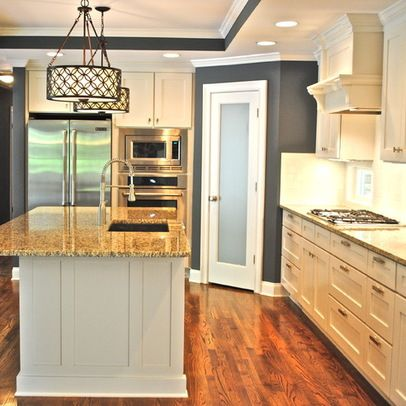Corner pantry design ideas pictures remodel and decor for Kitchen floor plans with island and walk in pantry