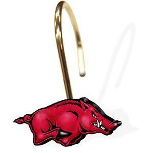 NCAA Arkansas Razorbacks Shower Curtain Rings, Set of 12 ...