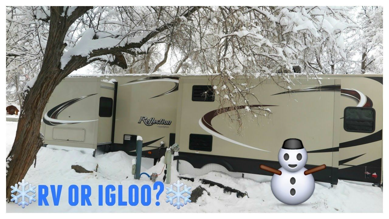 Cold winter snow days in the rv full time rv living rv