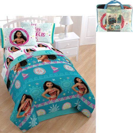 Disney Moana Bed In A Bag Bedding Set With Bonus Tote