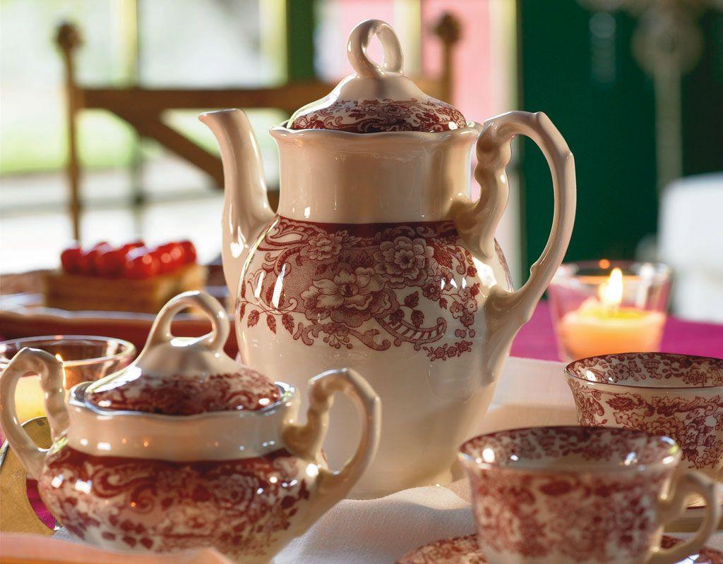 Juego de caf forma aurora decoraci n 202 rosa 202 - Decoracion de cafeterias ...