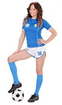 Disfraz de Jugadora Fútbol Italia mujer  da2f443b078e9