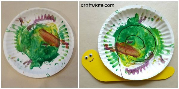 Paper Plate Snail | PAPER PLATE CRAFTS FOR KIDS | Pinterest