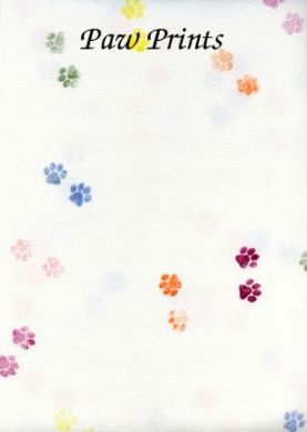 Paw Prints: Hand Stamped Collection: silkweaverfabrics.com
