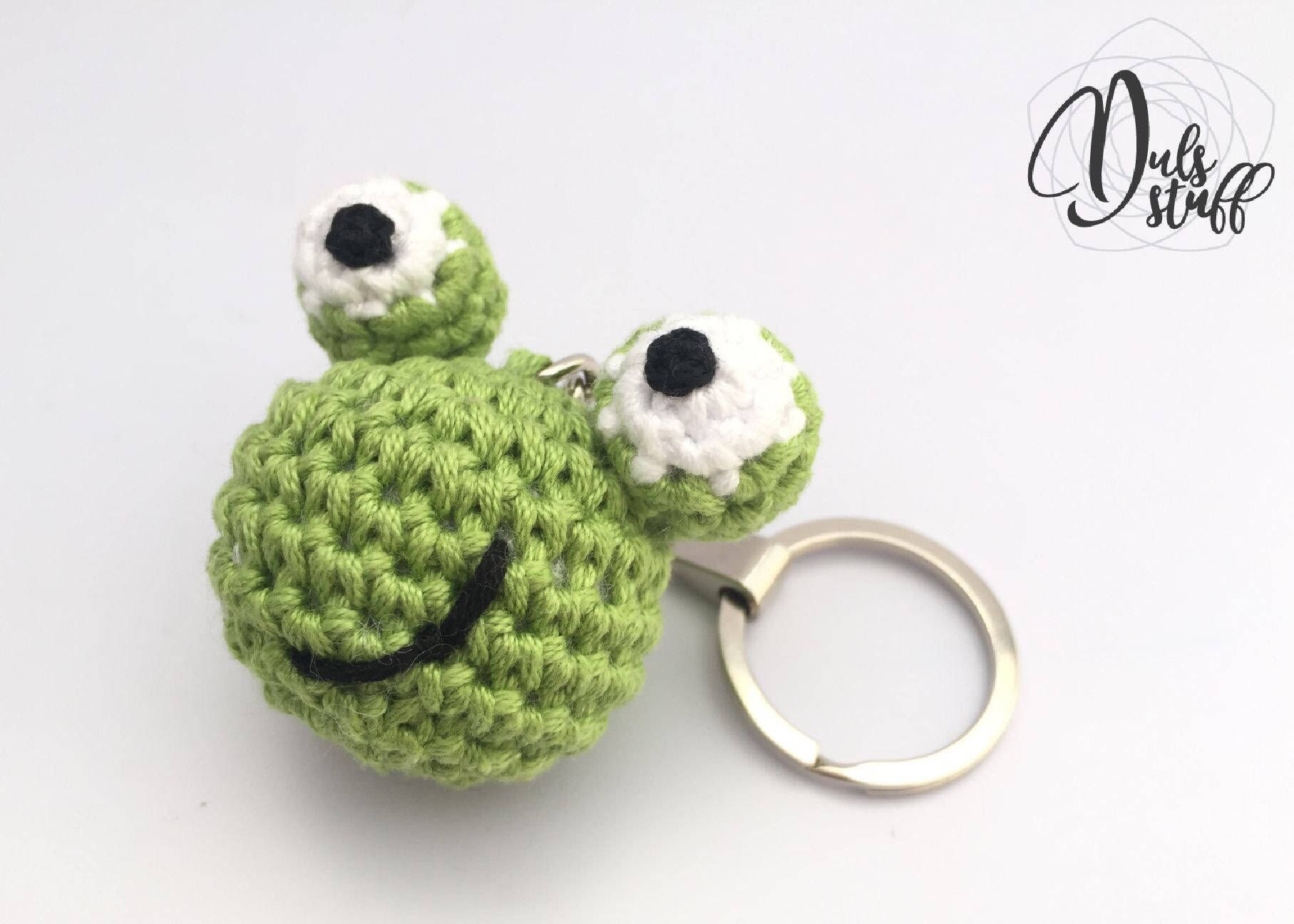 Frog crochet keychain, frog crochet, frog amigurumi, frog crochet ...