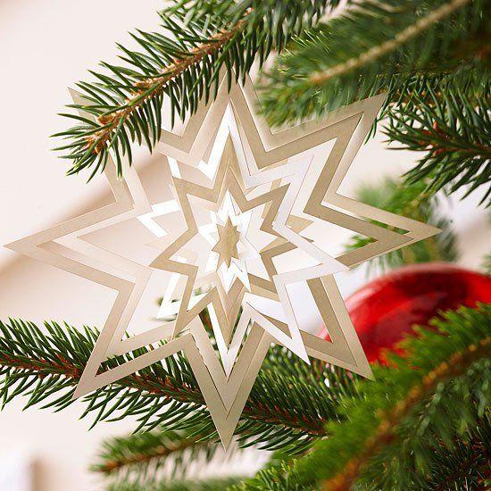 Pix - Weihnachtsdekoration Basteln 3d Weihnachtsstern Aus Papier ...