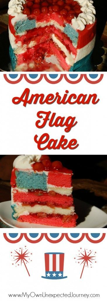 American Flag Cake | 4th of July Food Ideas | Memorial Day | Labor Day | Red White and Blue | American Party | Peek a boo Cake | Dairy Free Recipe #labordayfoodideas