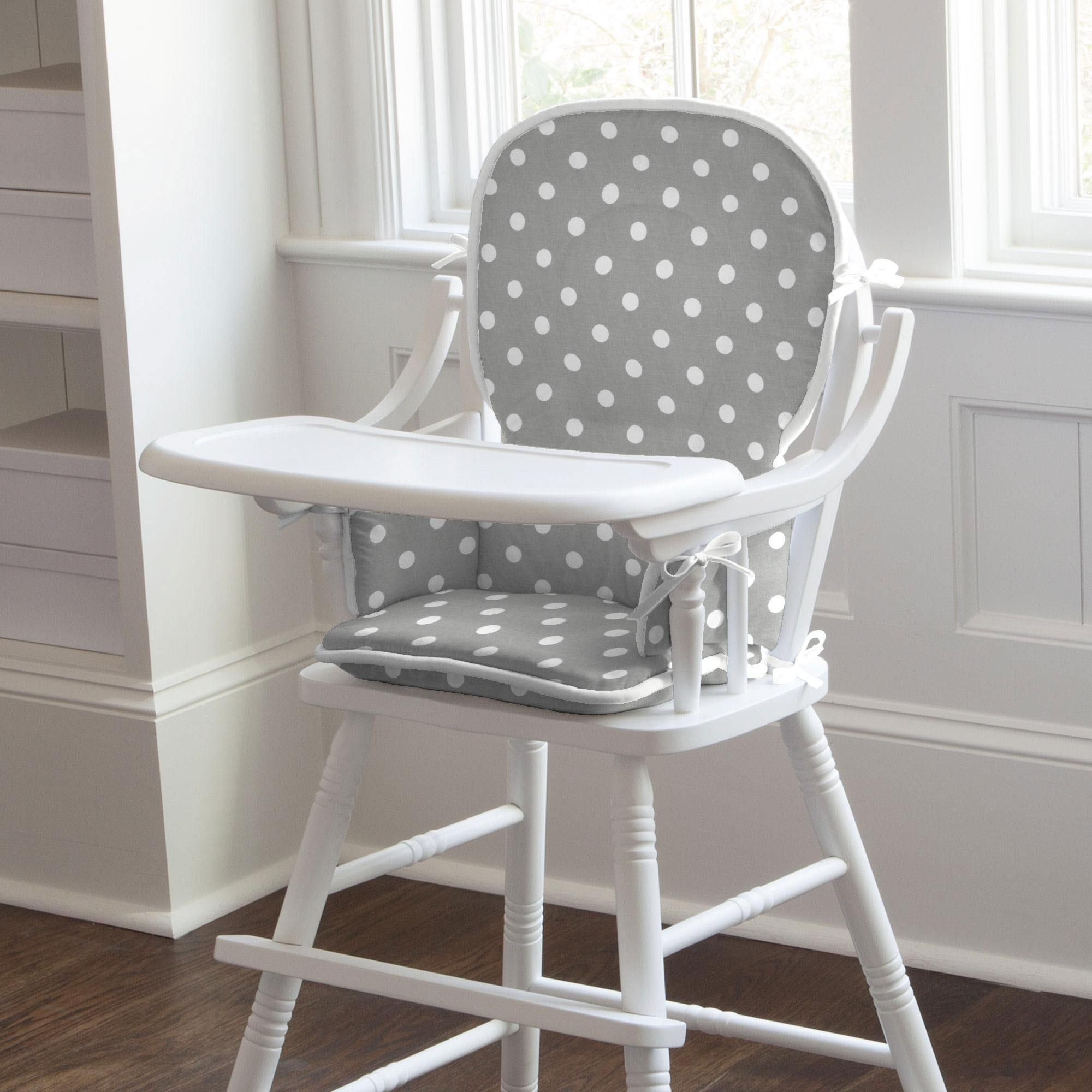 stokke high chair cushion sewing pattern tattoo gray and white dots stripes pad baby