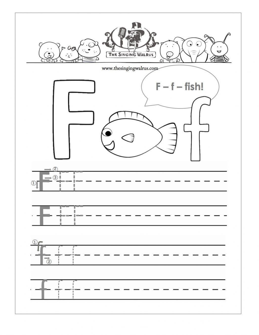 Alphabet Writing Practice Worksheets For Kindergarten
