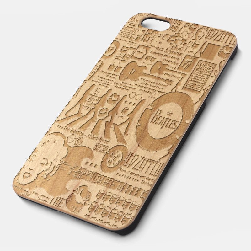 The Beatles Abbey Road Natural wood iPhone case laser engraved iPhone 6 6S 6 Plus 6S Plus case WA061