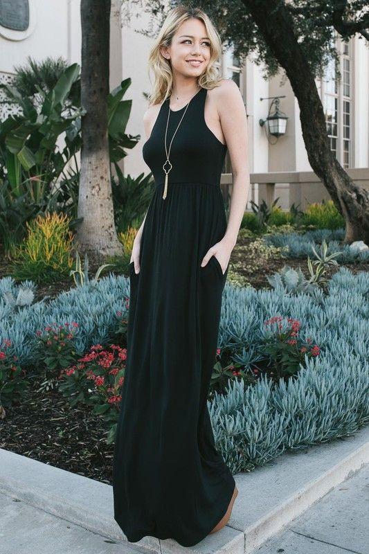 Black Maxi Dress Classicblacks O Dresses Black Maxi Racerback