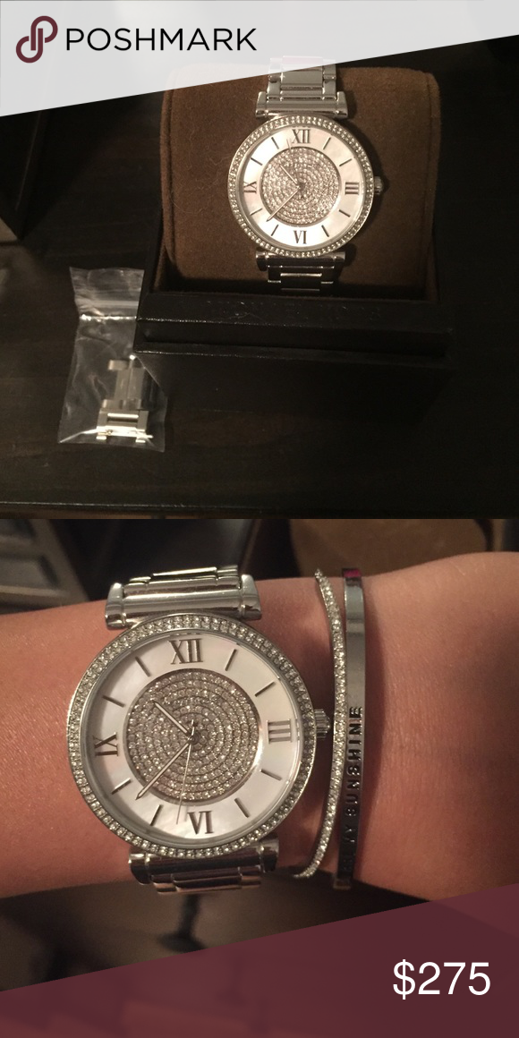 629cfab2570a Discontinued Michael Kors Caitlin watch Discontinued Michael Kors Caitlin  watch in silver.