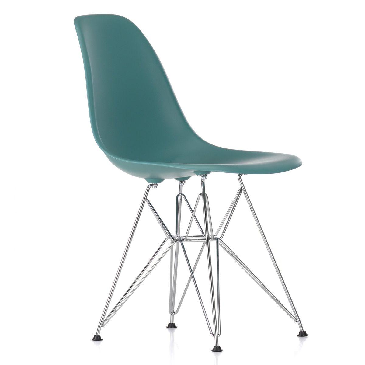 Vitra Eames Plastic Side Chair Dsr Verchromt Basalt Kunststoffgleiter Basic Dark Eames Stuhle Esszimmerstuhle