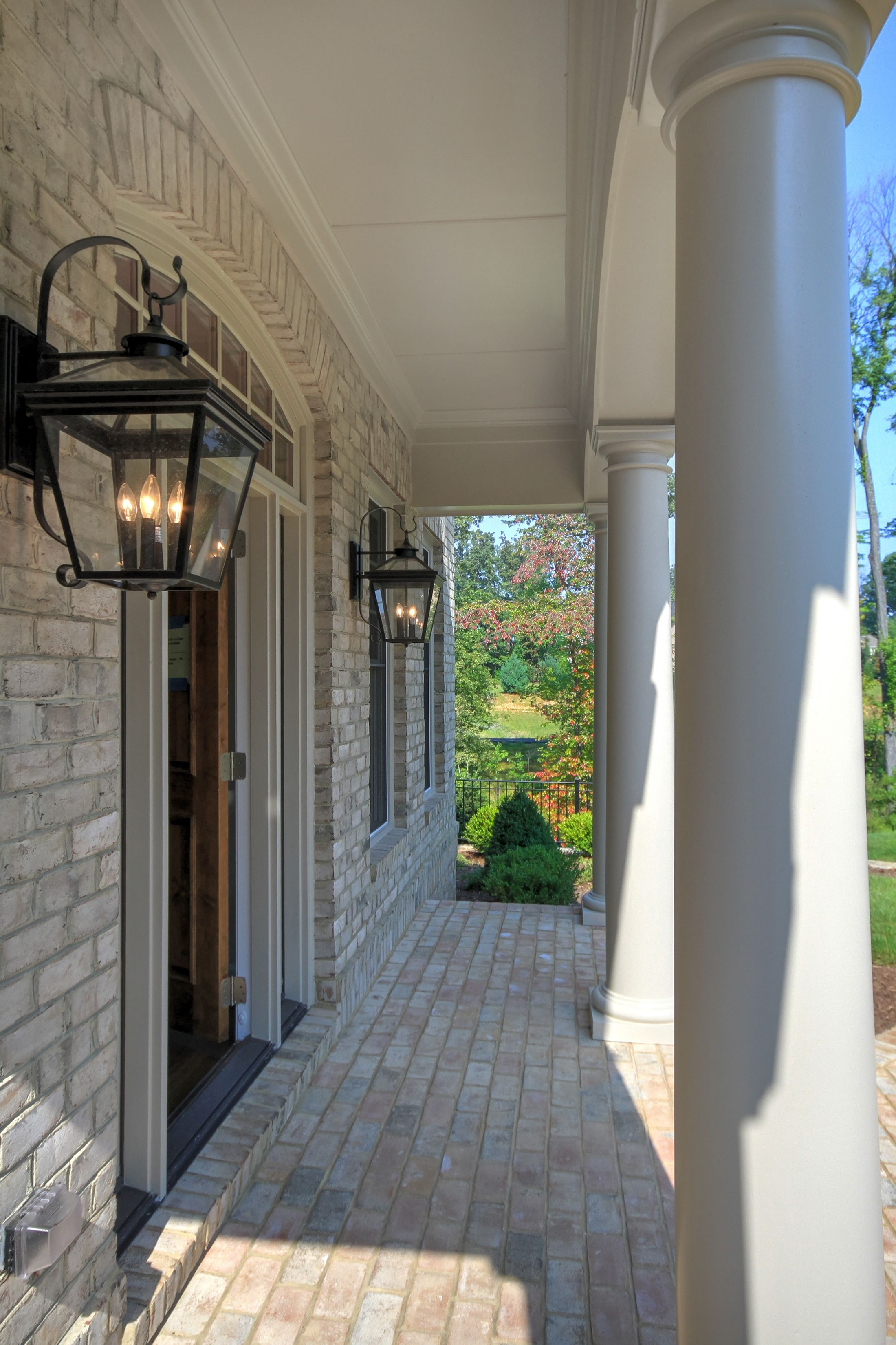 The Grayson Model entrance portico. Gulick Group luxury home builder ...