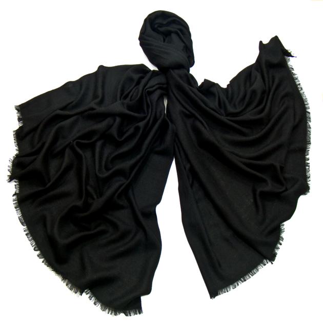 ETOLE Fine Echarpe Laine douce Noir