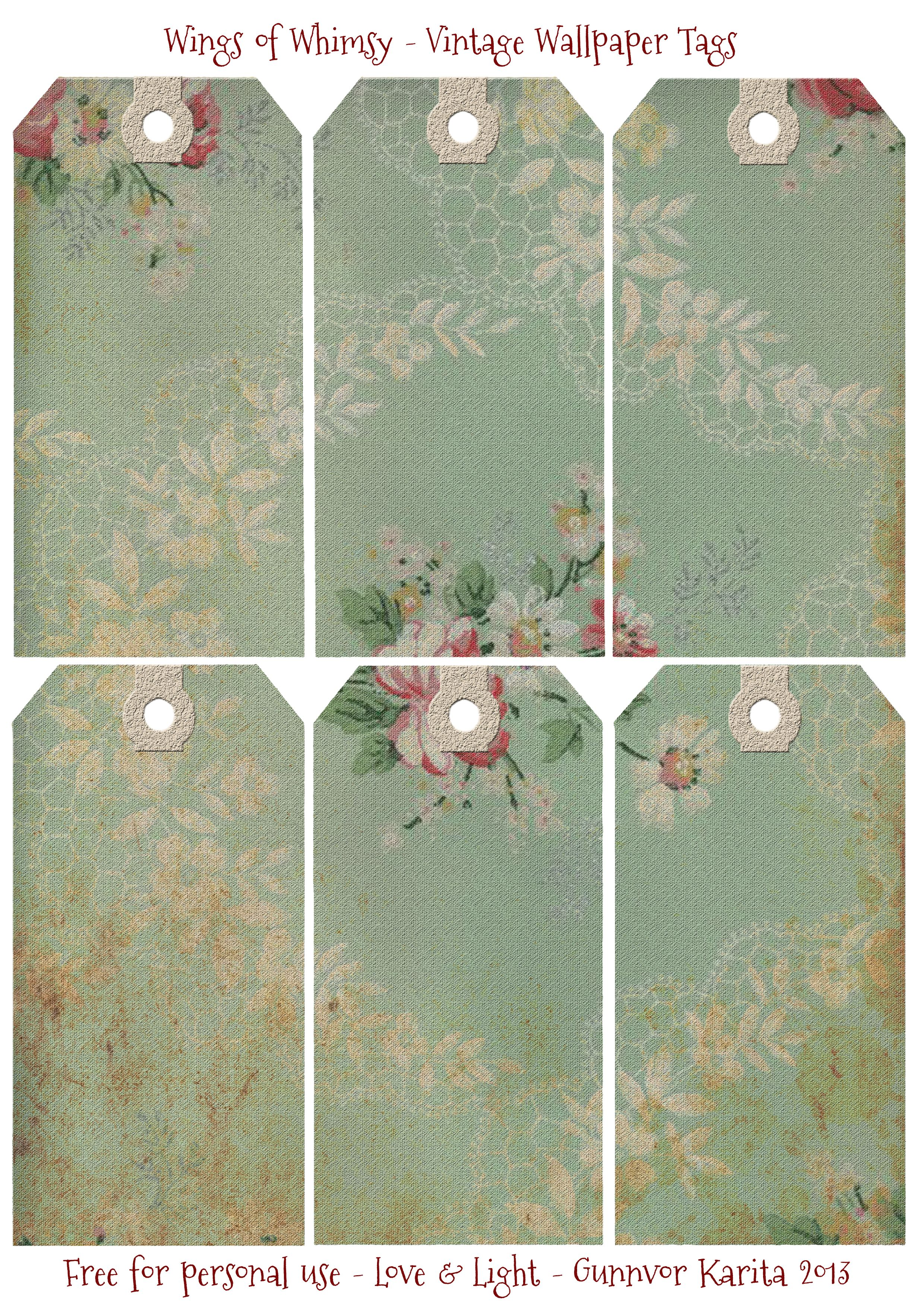 Victorian Tags Galore – Free Printables For You   Preisschilder ...