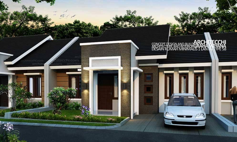 Model Rumah Minimalis Modern 1 Lantai 3 Kamar Tidur Google Search