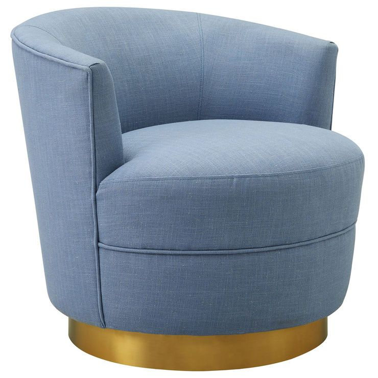 Best Empire Swivel Accent Chair Light Blue Blue Accent 400 x 300