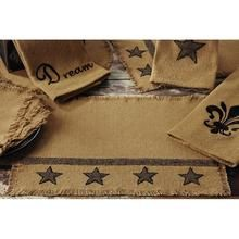 Burlap Star Placemat Set (Set of 4)