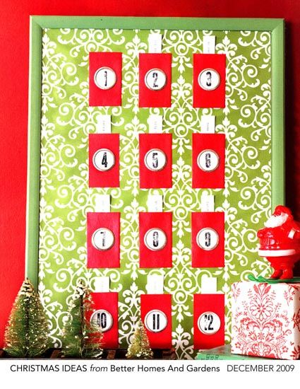 12 days of Christmas activity calendar Would also work great as - activity calendar