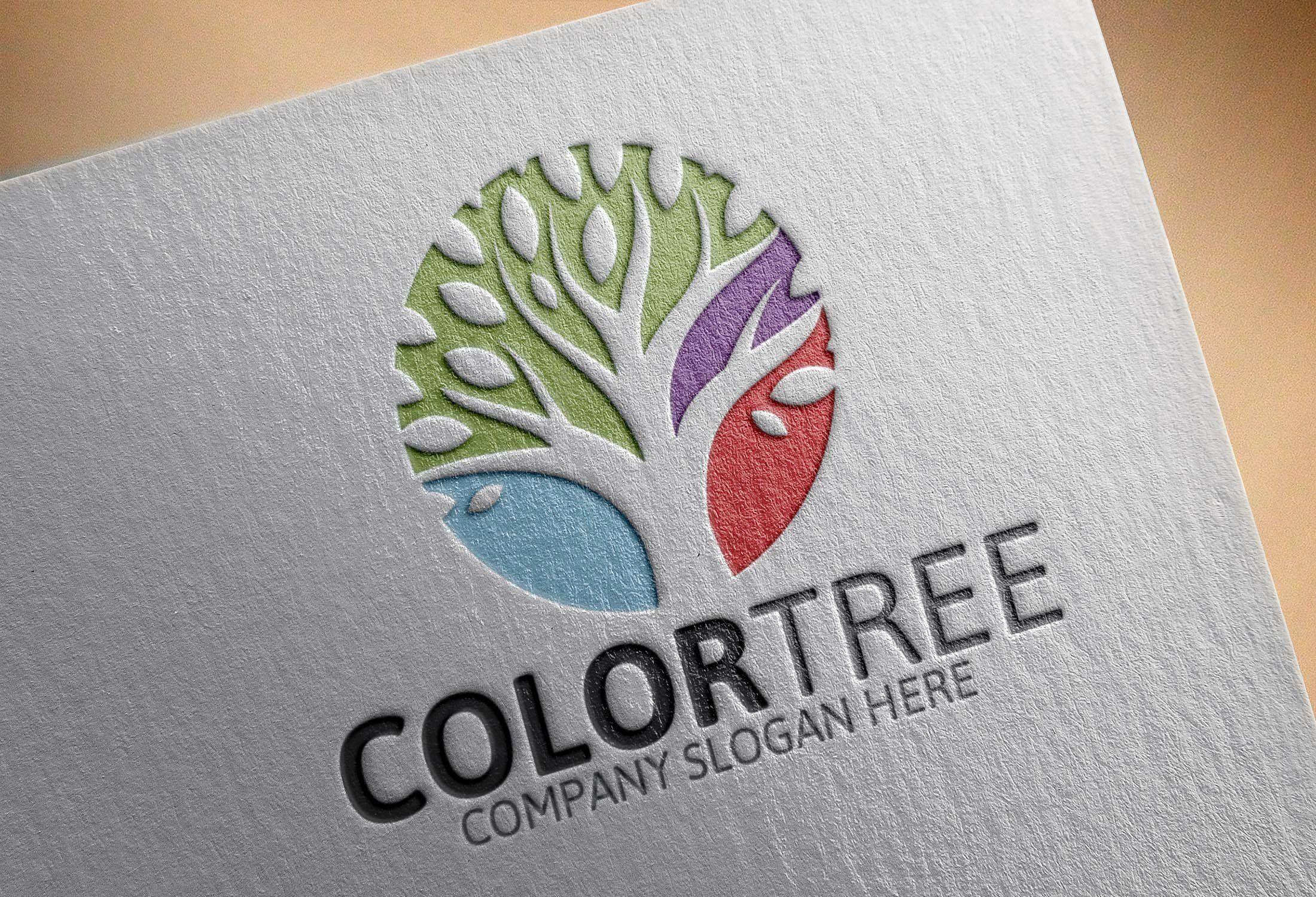 Color Tree Logo by Josuf Media on creativemarket Logos