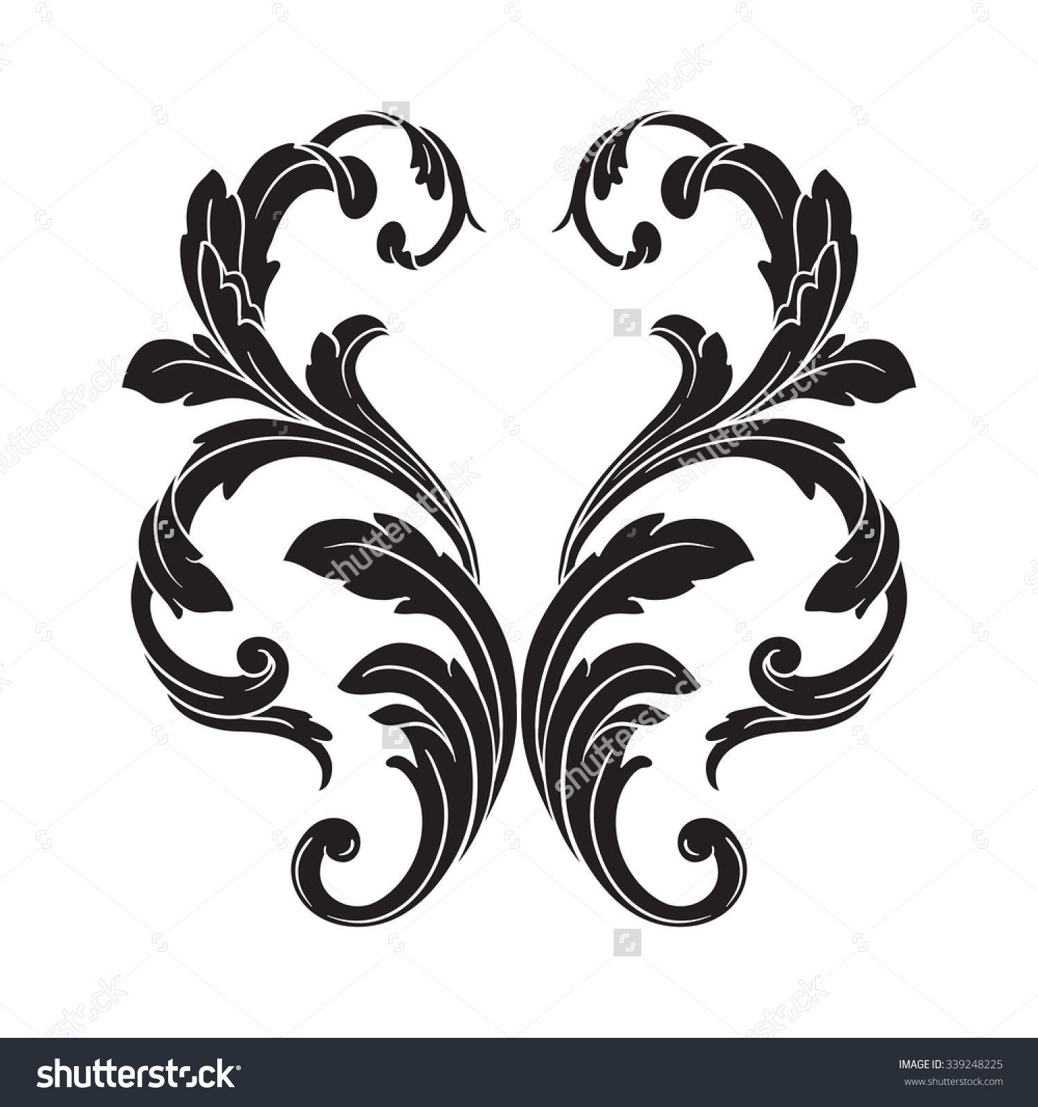 http image shutterstock com z stock vector vintage baroque frame rh pinterest com filigree vector free filigree vector image