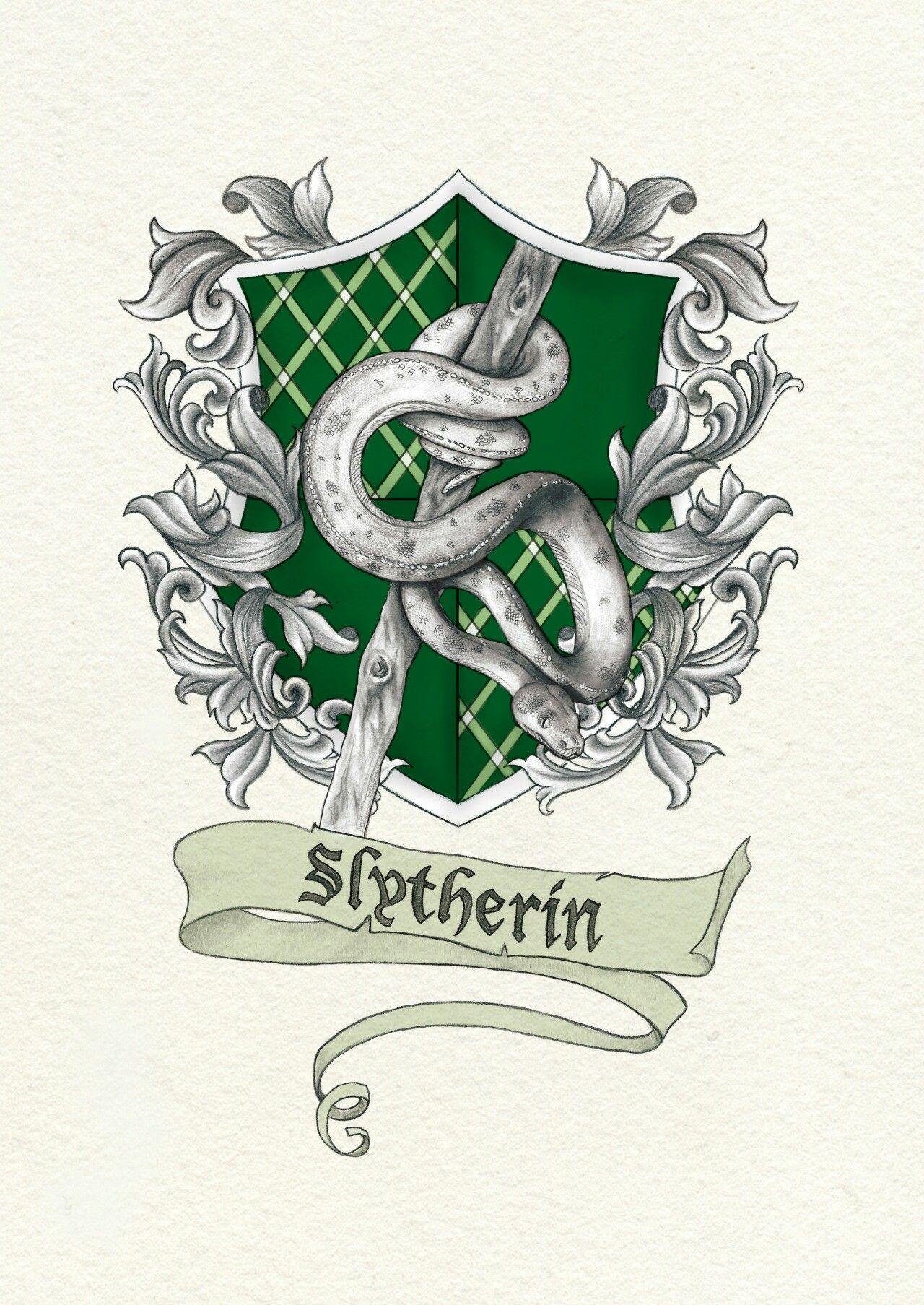 красивые картинки герба слизерина вуличенко