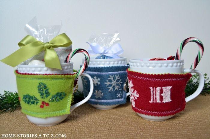 Very cute coffee cozy gift idea by @HomeStoriesA2Z