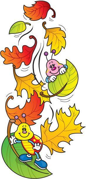 FALLING_LEAVES Осенние листья и букашки: | Omalovánky ...