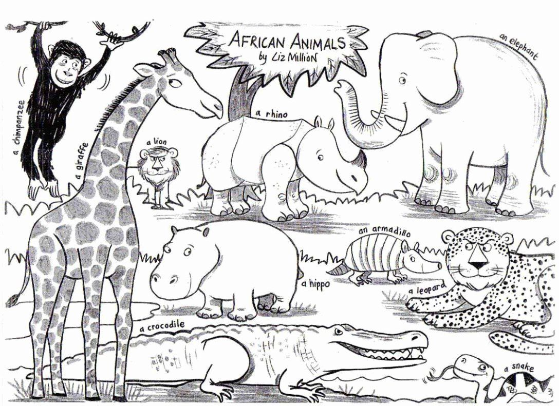 Coloring Pages Jungle Animals Best Of Safari Animal Coloring Pages Free Lovely Animal Coloring Pages Pdf Zoo For Toddlers Cute T Afrika Kleurplaten Zuid Afrika