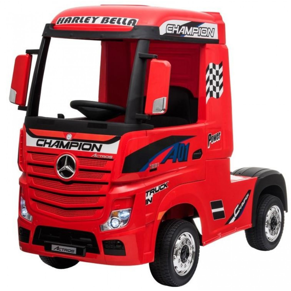 Licensed Mercedes Benz Actros 12v Ride On Lorry Artic Truck Red In 2020 Mercedes Benz Mercedes Truck Mercedes
