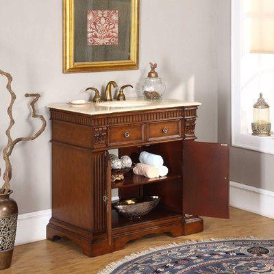 Silkroad Exclusive Carroll 36 Quot Single Bathroom Vanity Set