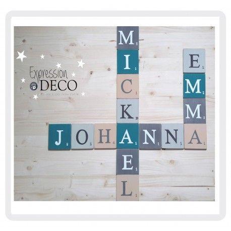 commande sp ciale reserv e a johanna de 16 lettres scrabble 10 cm d coration maison. Black Bedroom Furniture Sets. Home Design Ideas