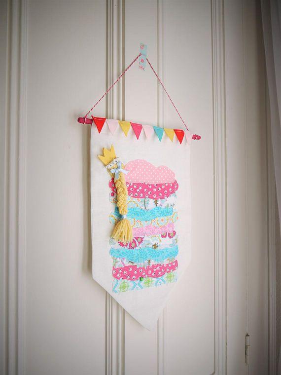 Princess And The Pea Nursery Decor Wall Hanging Banner Baby Shower Gift Sleeping