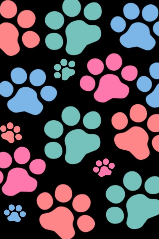 Paw print iphone wallpaper bing images paw prints - Dog print wallpaper ...