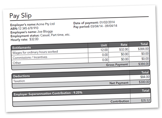 Free Australian AutoCalculating PDF Pay Slip Download – Payslip Free Download