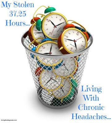 A day in the life of chronic headaches/migraine headaches...