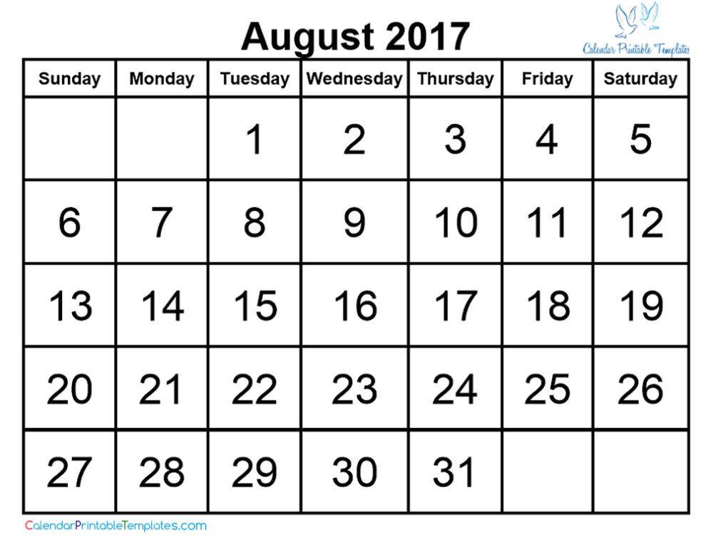 August 2017 Calendar Printable Http://Www